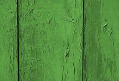 La struttura di legno verde Fotografie Stock