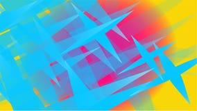 La struttura di magia alla moda volumetrica astratta blu trasparente di varie forme di spazio aereo leggero ha scolpito le stelle royalty illustrazione gratis