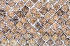 La struttura di pietra del muro di mattoni, può usare come fondo Fotografia Stock