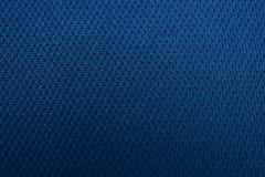 La struttura di un panno di cotone blu grigio profondo Fotografie Stock