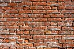 La struttura di vecchio muro di mattoni rosso immagini stock libere da diritti