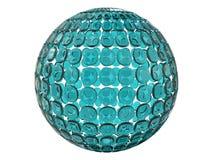 La struttura di vetro astratta 3d della sfera rende Immagini Stock
