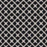 La struttura diagonale astratta del reticolo quadrato, le figure geometriche semplici, stella modella, attraversa illustrazione di stock