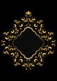 La struttura dorata originale con perle arriccia e va Immagine Stock