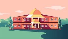 La struttura edile classica dell'istituzione ha isolato illustrazione di stock