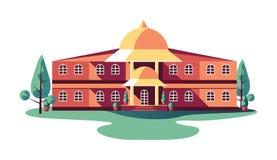 La struttura edile classica dell'istituzione ha isolato illustrazione vettoriale