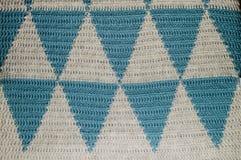 La struttura a foglie rampanti dei triangoli grigi e blu Fotografie Stock Libere da Diritti