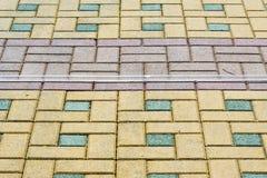 La struttura, fondo, area variopinta ha allineato con, lastre per pavimentazione Fotografie Stock
