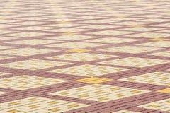 La struttura, fondo, area variopinta ha allineato con le lastre per pavimentazione Fotografia Stock Libera da Diritti
