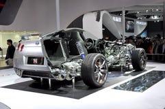La struttura interna di Nissan GTR Fotografie Stock