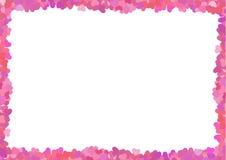 La struttura rosa del biglietto di S. Valentino Illustrazione Vettoriale