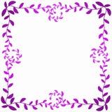 La struttura rosa delle foglie accantona la carta dei biglietti di S. Valentino Fotografia Stock Libera da Diritti