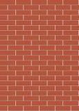 La struttura rossa del muro di mattoni si collega senza fine Fotografie Stock