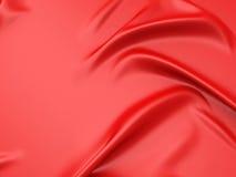 La struttura rossa del tessuto piega il fondo Immagini Stock