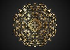 La struttura rotonda decorativa dell'oro per progettazione con il laser ha tagliato l'ornamento Mandala dorata di lusso del cerch royalty illustrazione gratis