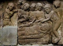 La stufa di sollievo di Ramayana scolpisce o nandisvara sul tempio di Prambana Fotografia Stock