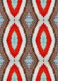 La stuoia di colore, tricottata lavora all'uncinetto, fatto a mano Fotografia Stock Libera da Diritti
