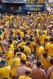 La Suède et les ventilateurs ukrainiens ont obtenu Photo libre de droits