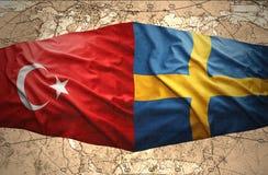 La Suède et la Turquie Photographie stock libre de droits