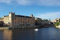 La Suède, remblai avec Royal Palace image libre de droits