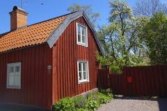 La Suède Trosa Maison rouge traditionnelle Photographie stock