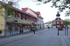 La Suède Trosa Maison rouge traditionnelle Image stock