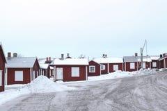 La Suède, vieille ville de LuleÃ¥, Gammelstad Image stock