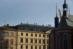 La Suède, visite sur le toit photographie stock libre de droits