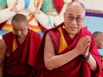 La sua santità il XIV Dalai Lama Tenzin Gyatso fotografia stock libera da diritti