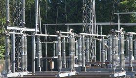 La subestación eléctrica Fotografía de archivo