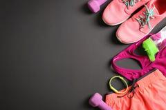 La substance de gymnase et l'espace vide pour l'exercice prévoient Photo libre de droits