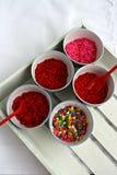 La sucrerie colorée arrose image stock