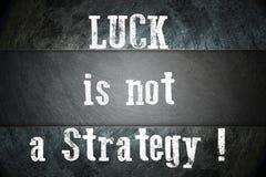 La suerte no es un concepto de la estrategia libre illustration