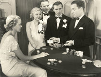 La suerte sea una señora esta noche Imagen de archivo libre de regalías