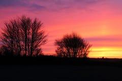 La Suffolk di tramonto fotografia stock