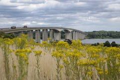 La Suffolk Regno Unito di Ipswich del ponte di Orwell Fotografie Stock Libere da Diritti