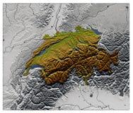 La Suisse, carte d'allégement Image libre de droits