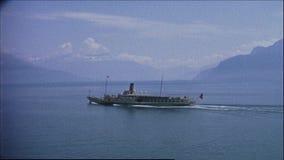 La Suisse 1964 : Croisi?re du Lac L?man banque de vidéos