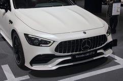La Suisse ; Genève ; Le 8 mars 2018 ; Fron de Mercedes-Benz AMG GT 53 Photographie stock