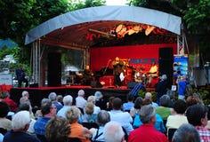 La Suisse : Grande ambiance de l'Ascona Jazz Festival dans le canton Tessin photo stock
