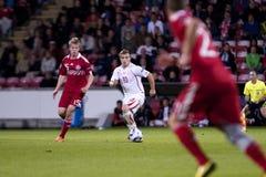 La Suisse - le Danemark (l'UEFA Under21) Image libre de droits