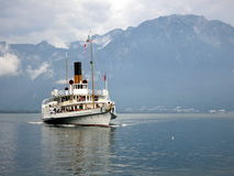 La Suisse paddle steamer Royalty Free Stock Photography