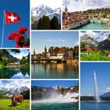 La Suisse regarde le collage Photographie stock libre de droits