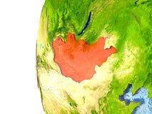 La Suisse sur le globe illustration stock