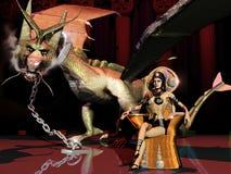 La sumisión del dragón Fotos de archivo