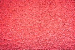 La superficie áspera del muro de cemento rojo viejo Fotos de archivo libres de regalías