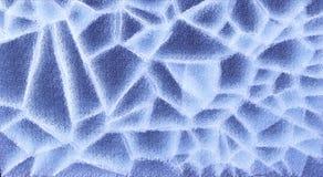 La superficie 3D di struttura del ghiaccio di Big Blue rende Fotografie Stock