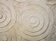La superficie de la piedra con el estilo del círculo para adorna Fotografía de archivo libre de regalías