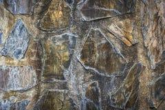 La superficie de las paredes de piedra y del cemento Imágenes de archivo libres de regalías
