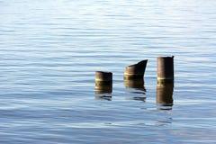 La superficie del agua, el mar, el golfo de Finlandia, palillo 3 Imágenes de archivo libres de regalías